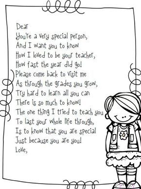 Free end of the year poem {boy and girl version