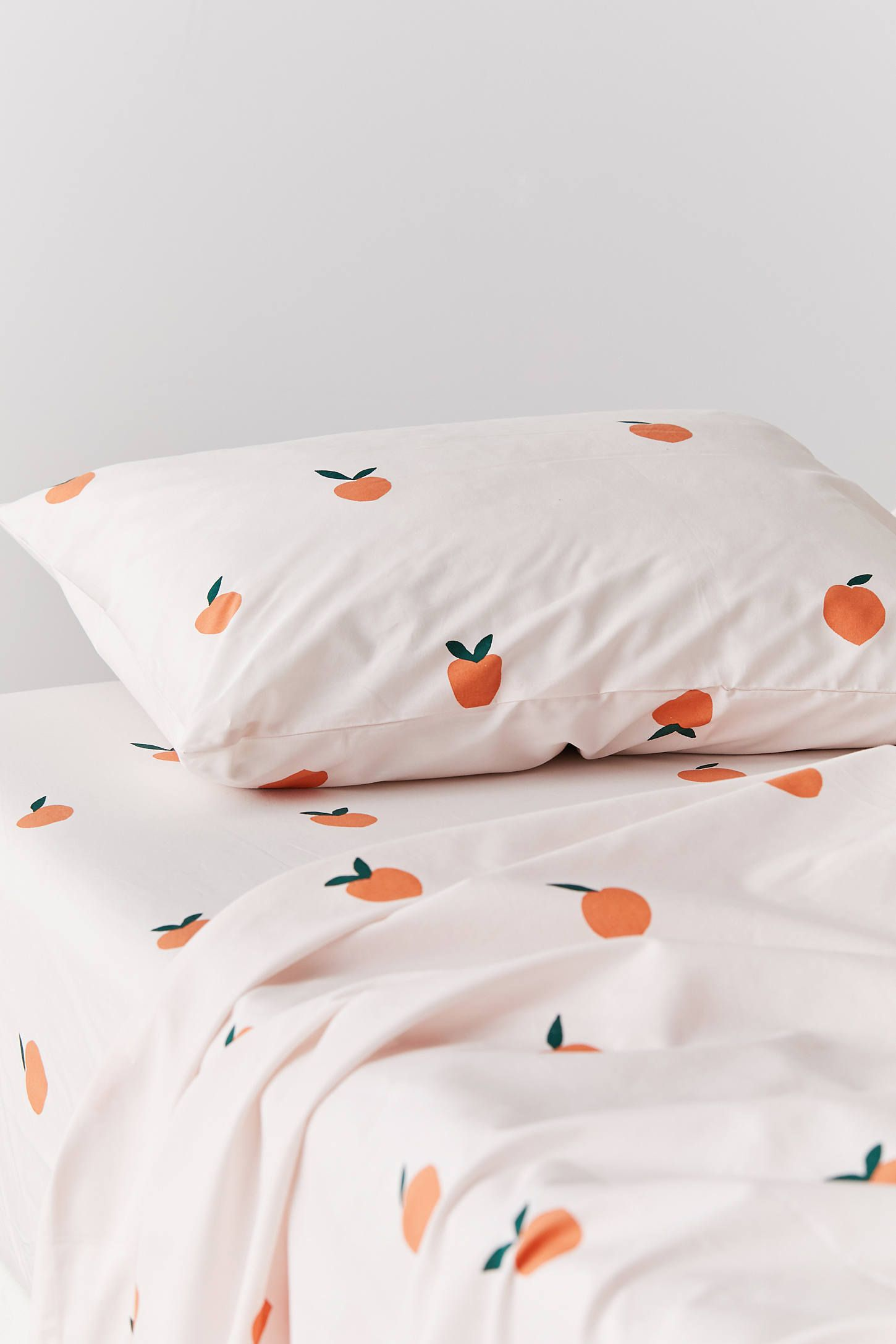 Allover Peaches Sheet Set Urban Outers King Sets Flat Sheets