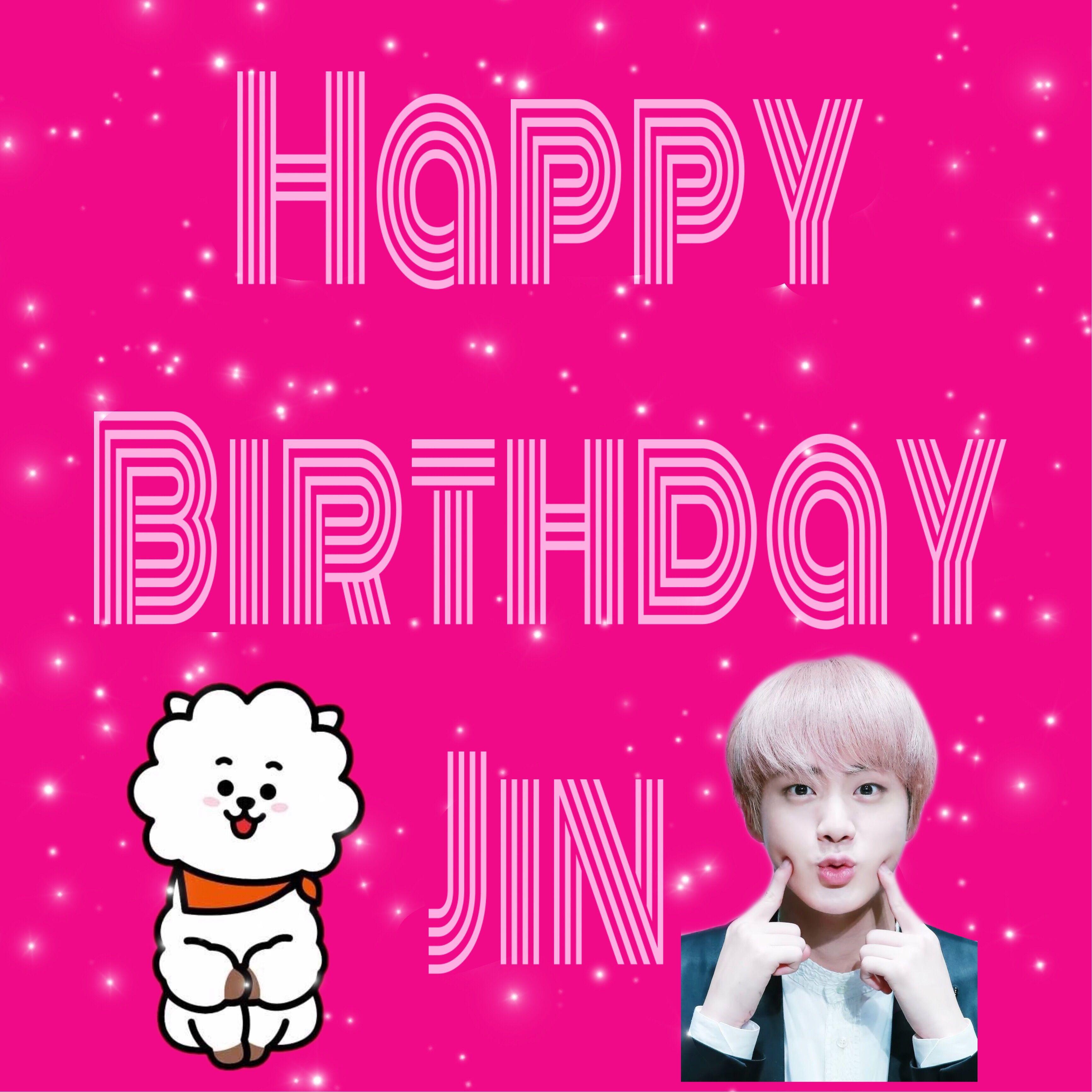 Happy Birthday Jin Bts Jin Seokjin Kpop Edits Picsart