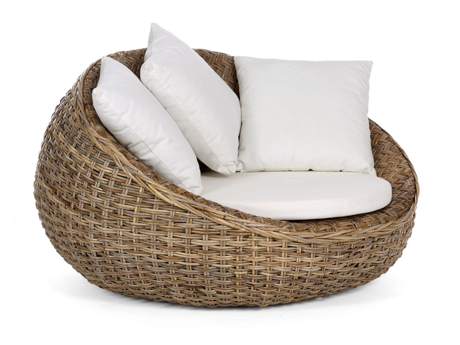 fauteuil rond tonacu en koboo grey