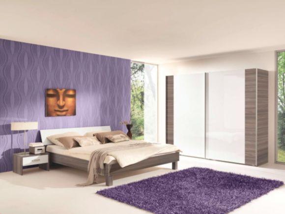 Modernes Schlafzimmer in Esche-Escada Nachbildung kombiniert mit - modernes schlafzimmer weis