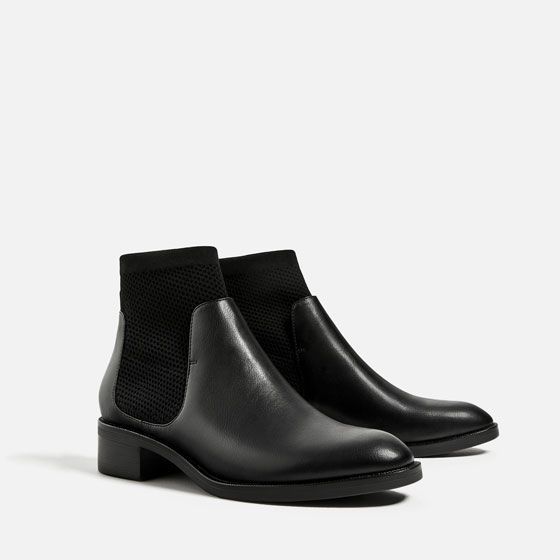 FLAT SOCK ANKLE BOOTS - View all-SHOES-WOMAN