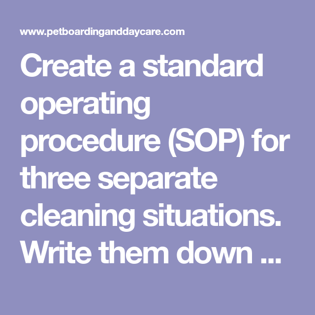 Create A Standard Operating Procedure Sop For Three Separate