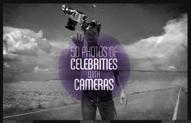 50 Photos of Celebrities With Cameras