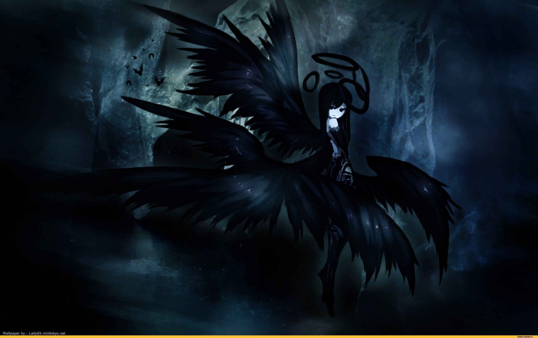 Dark Anime Girl Anime Girls Angel Wallpaper Girl Wallpaper Dark Pictures