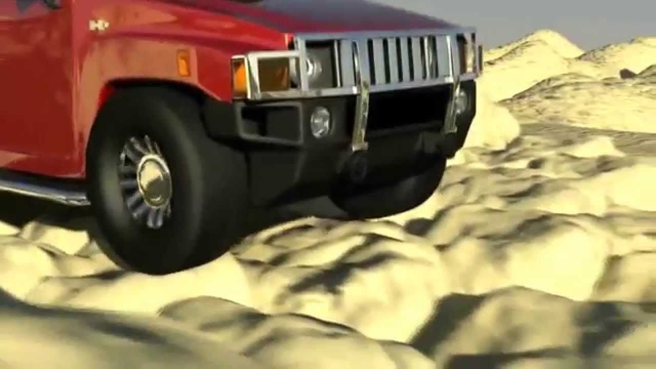 hummer h3 in 3d 720p
