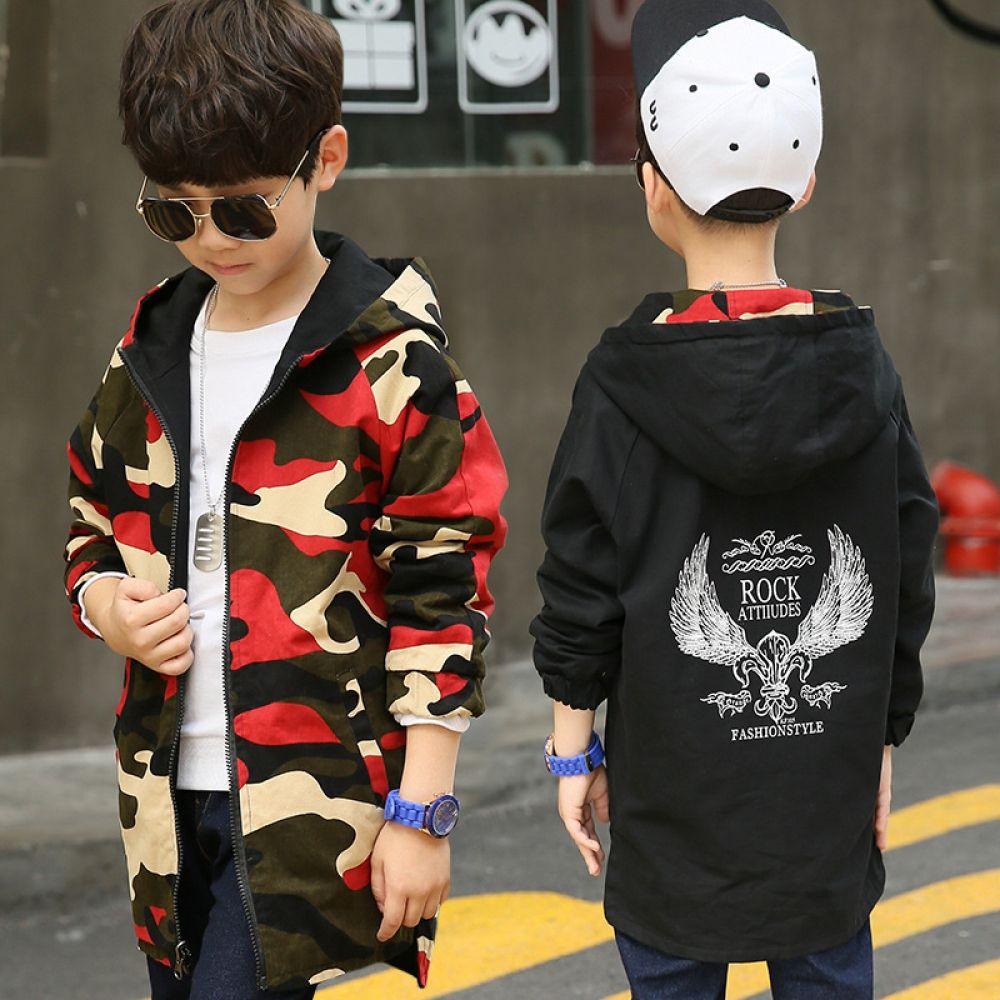 6b07c940e Boys Double-sided Wear Clothes Boys Coat Kids Outerwear Children ...