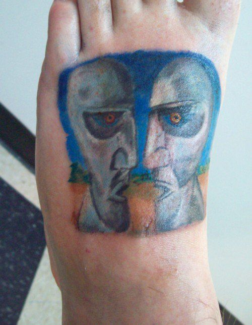 Pink Floyd The Division Bell Foot Tattoo Tattoos And Art