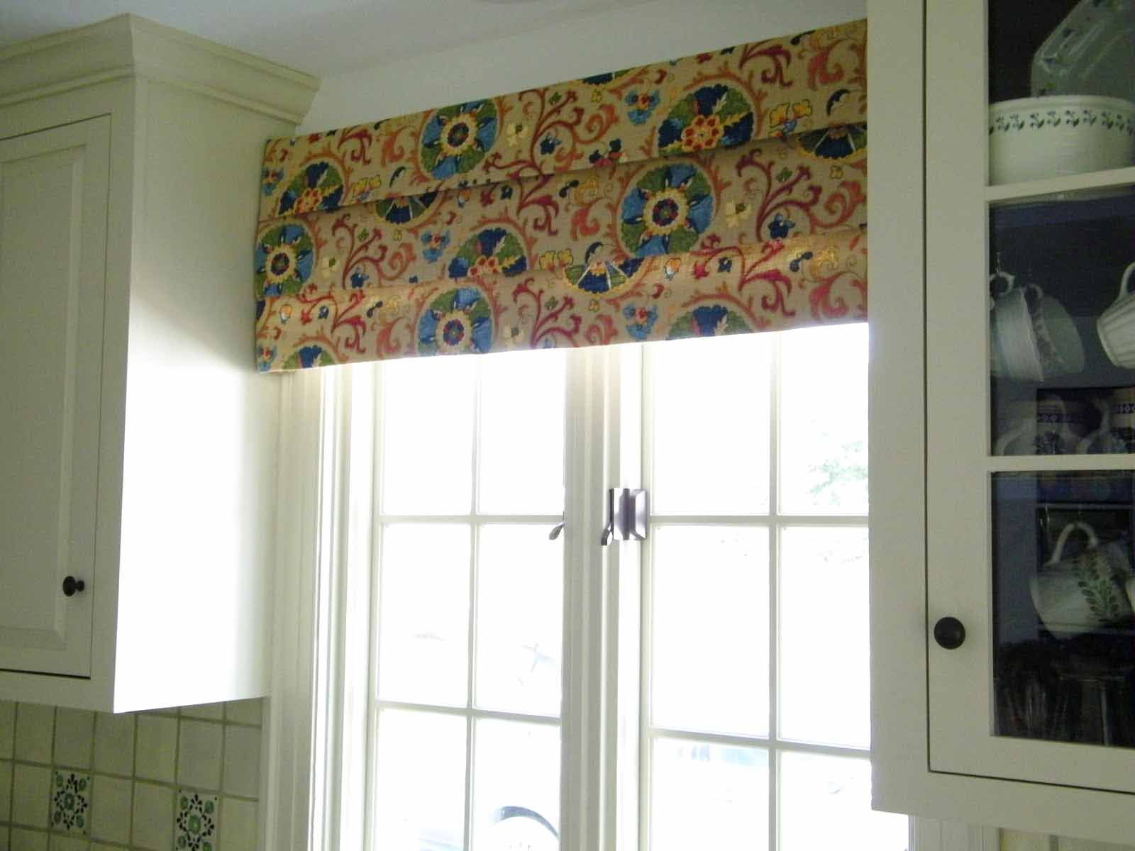 Awe inspiring Handmade Over Valance As Frosted Patio Door Window