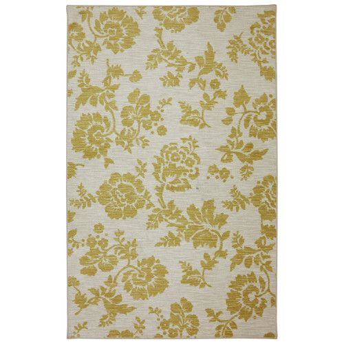 Found it at Wayfair - Fuhrmann Freemont Sunset Pale Yellow Area Rug