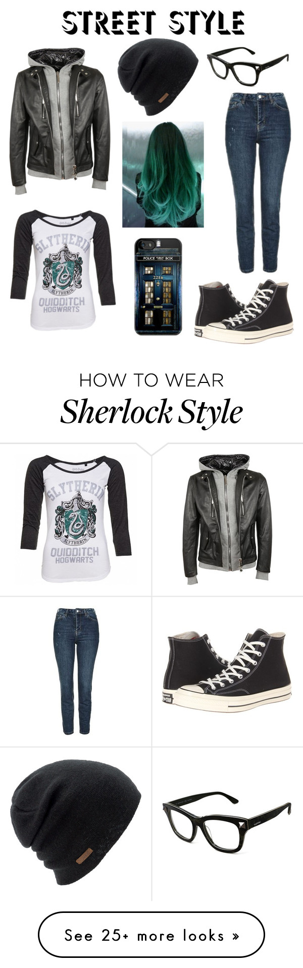 """Street Style"" by open-minds on Polyvore featuring Topshop, Coal, Converse, Valentino and Philipp Plein"