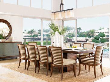 Lexington Home Brands Tropical Dining Room Barbara Schaver Furnitureland South Tropical Dining Room Casual Dining Rooms Coastal Dining Room