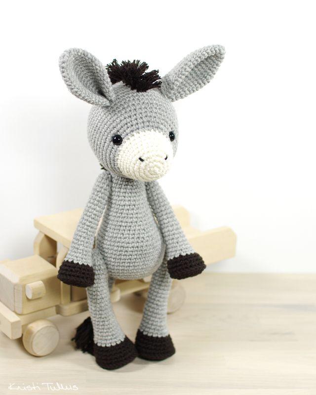 amigurumi donkey tutorial | crochet stuff | Pinterest | Ganchillo ...