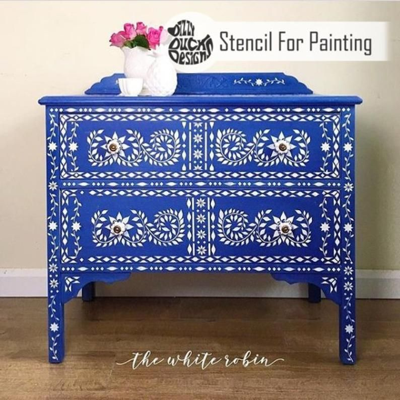 Jaipur Stencil Indian Inlay Furniture Floor Craft Stencil Etsy In 2020 Stencil Furniture Inlay Furniture Stencil Painting