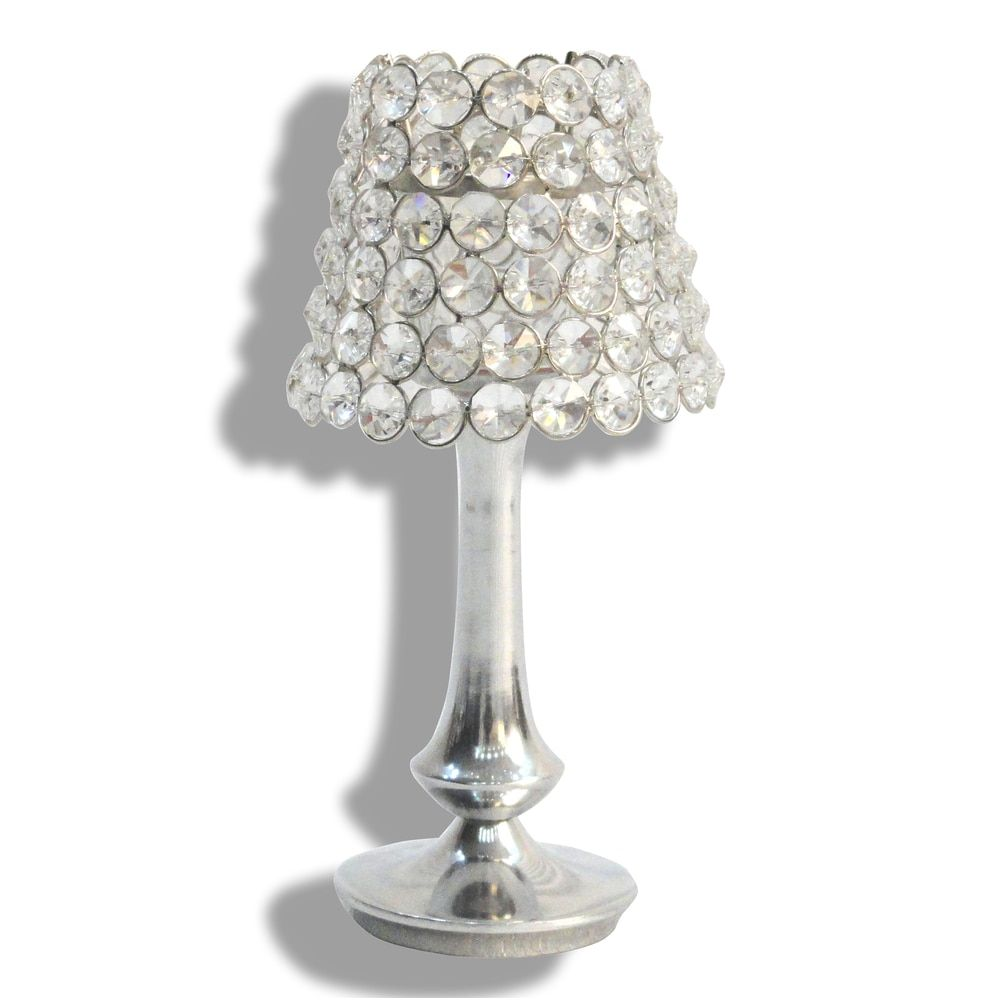 Alta home lampshaped tall crystal votive candle holder india