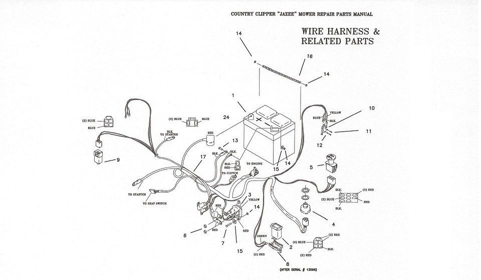 Country Clipper Jazee Mowers wiring diagrams | 1