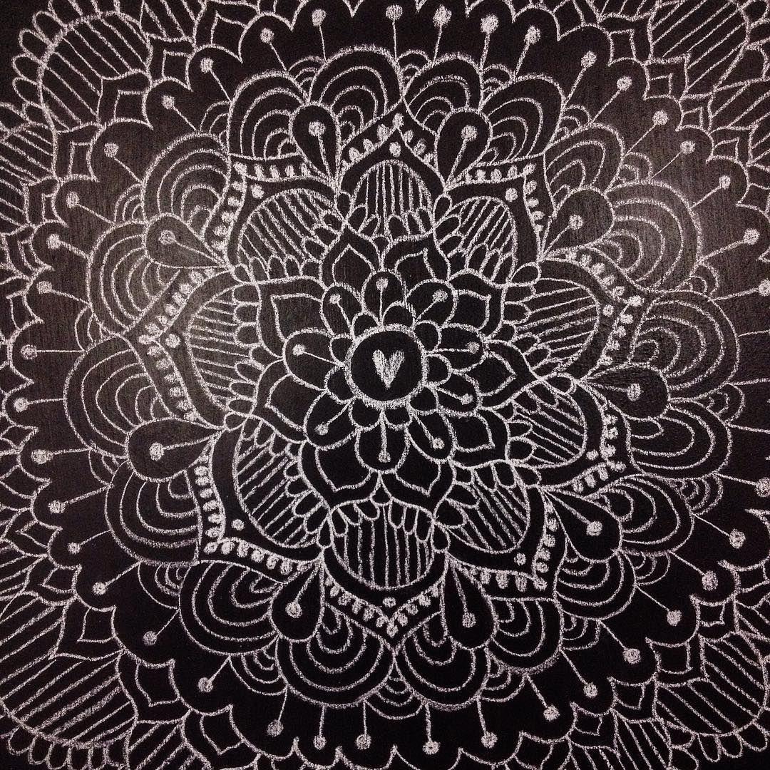 Art on chalkboard