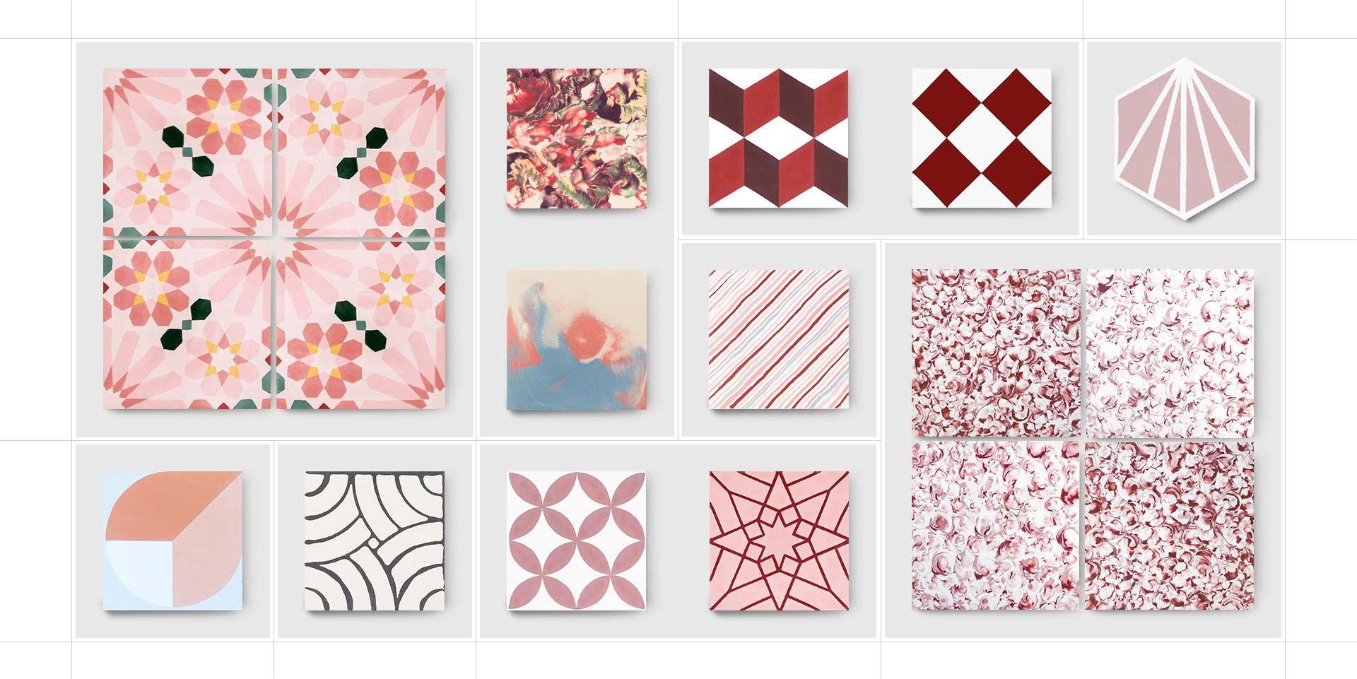 Küchendesign neuer stil zementfliesen pink mosaic factory  gösing in   pinterest