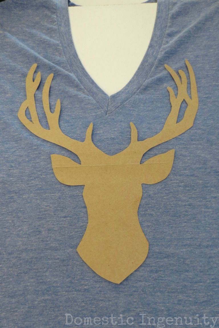 DIY Deer Silhouette T-Shirt | bleach pen bleach shirts