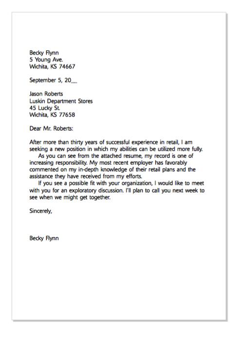 Example Of Retail Cover Letter  HttpExampleresumecvOrg