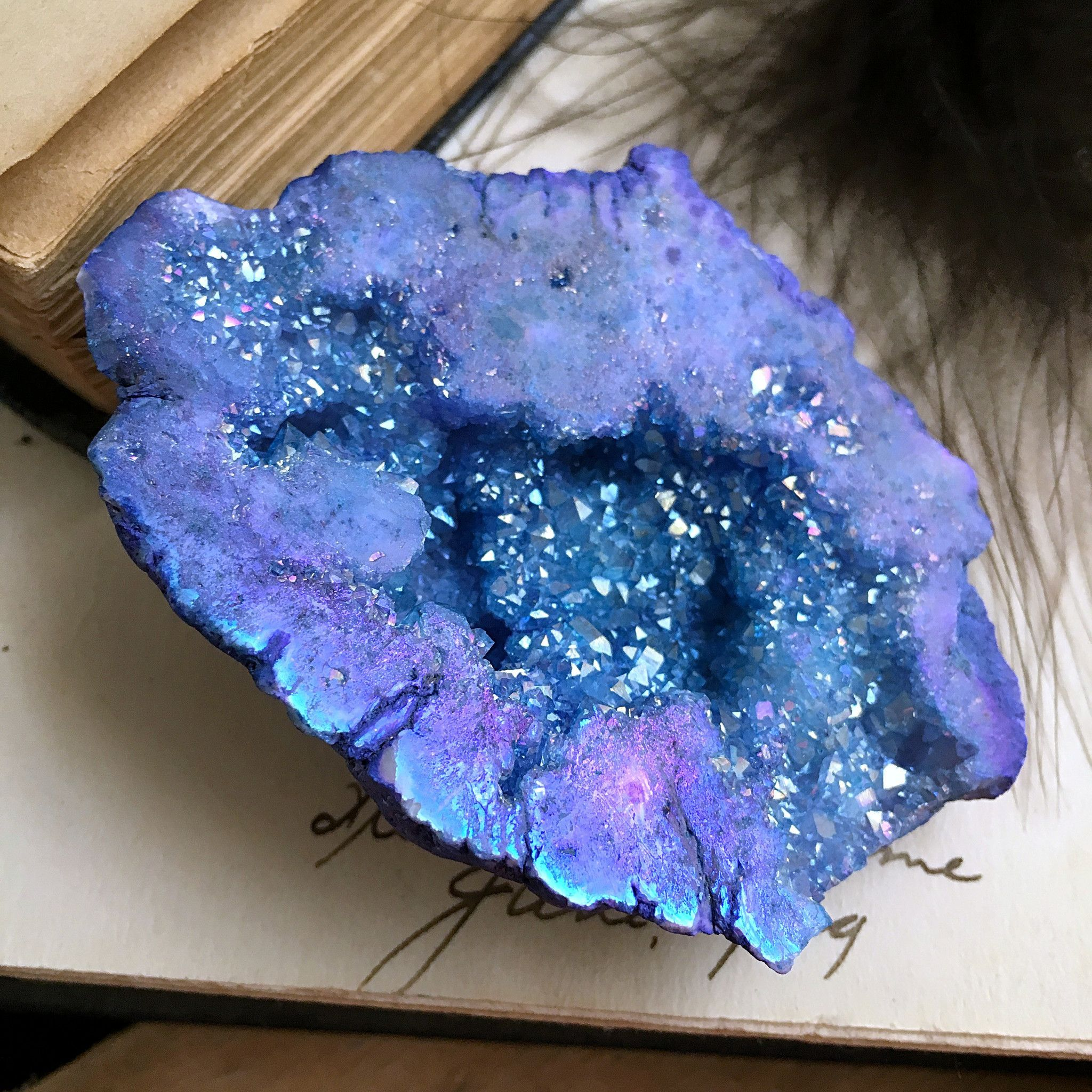 Geode Decor aqua aura geode | quartz crystals & gemstones | pinterest | geode