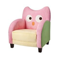 Circo Chloe Conner Owl Kids Upholstered Chair Pink