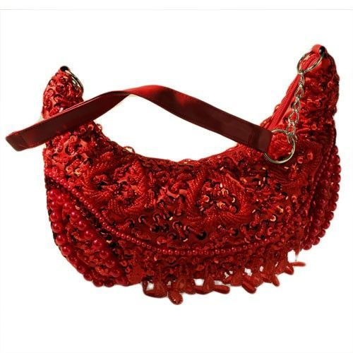 Retro Shimmy Bag - Red