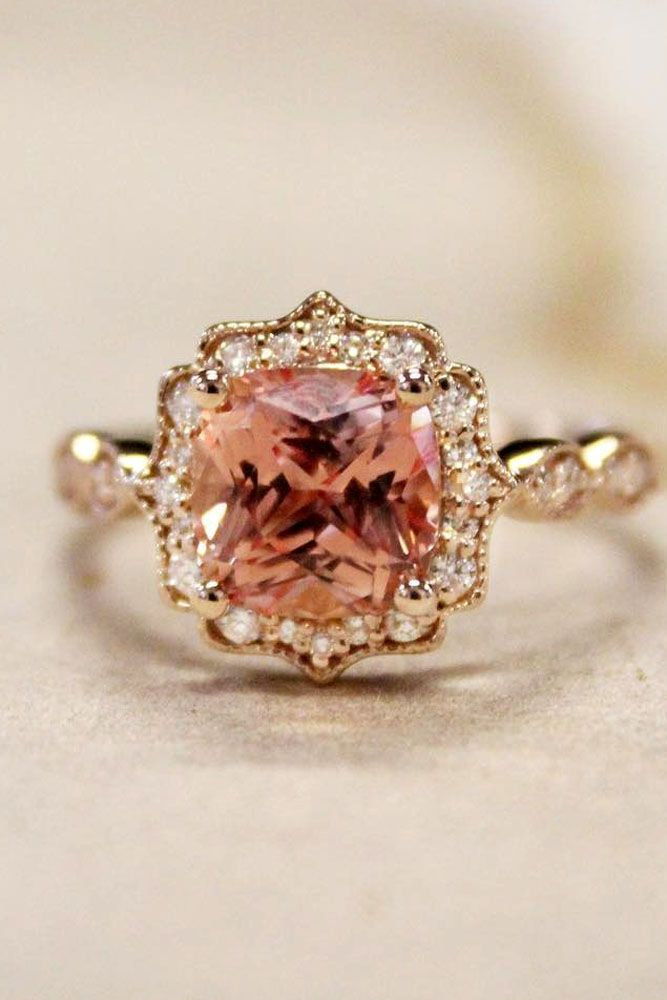 30 Vivid Sapphire Engagement Rings With Images Vintage