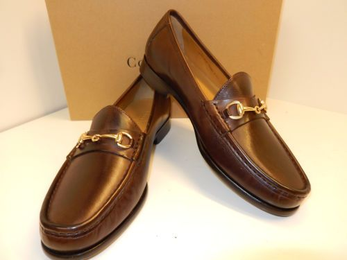 ff53ebdb9b NEW COLE HAAN ASCOT II DARK BROWN LEATHER LOAFER WITH GOLD BIT AND LEATHER  SOLES-ebay