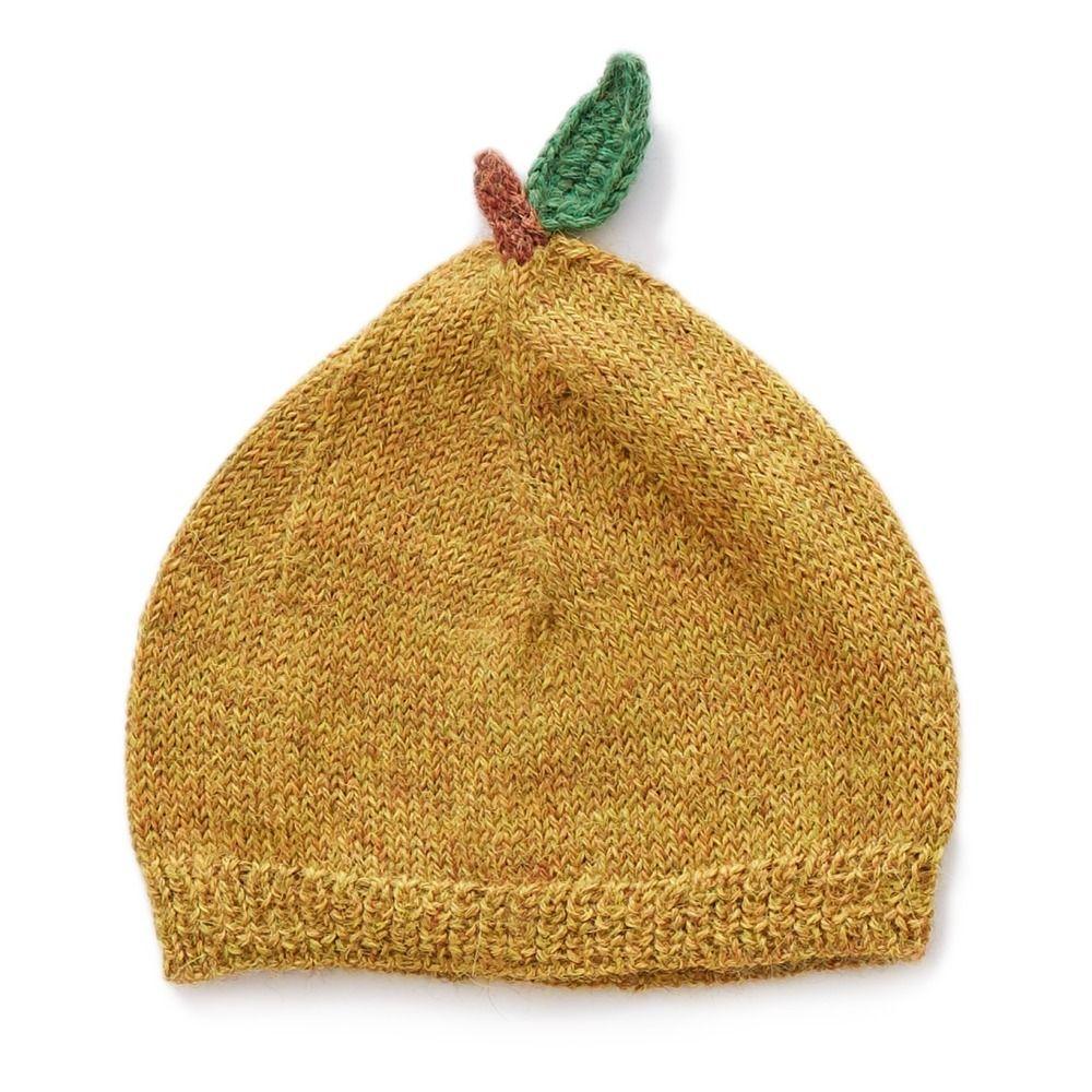 Baby Alpaca Wool Pear Beanie Mustard  c5a52a8d5a0