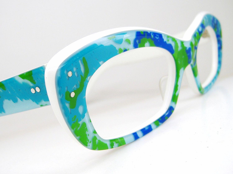 Vintage 80s Sunglasses or Eyeglasses Frame Cat Eye Frame NOS Shuron ...