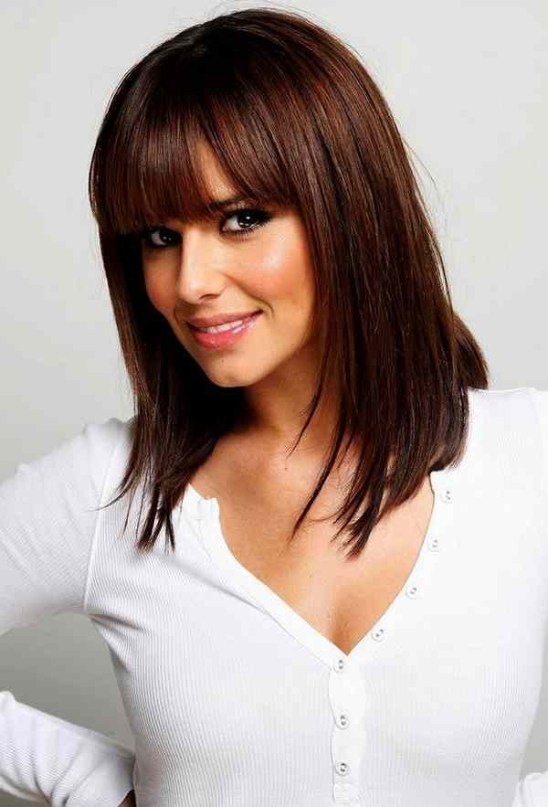 Haircuts For Square Faces With Bangs Google Search