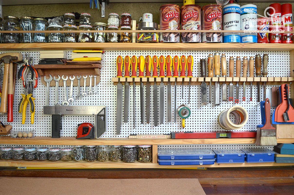 Armario De Ferramentas Completo : Como fazer quadro de ferramentas com madeira pinus