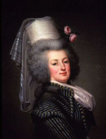 """The most accurate likeness of the ill-fated queen of France, Marie-Antoinette (1755-1793). Painted in 1788, a short year before the French Revolution broke out. She never said """"Let them eat cake."""" Her most famous quote should have been the last words she uttered. Mounting the scaffold to the guillotine, she stepped on her executioner's foot. """"Excuse me,"""" she said calmly. """"I didn't do it on purpose."""" A fitting epitaph?"""