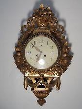9df600031487 Антикварная - 90-е годы 19 века позолоченная настенные часы — Роберт  Engstrom Стокгольм Швеция