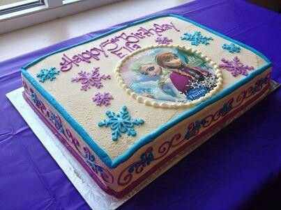 This Cake Would Be A 13x9serve About 25 30ppl As Decorated Cost 78 With Edible Image