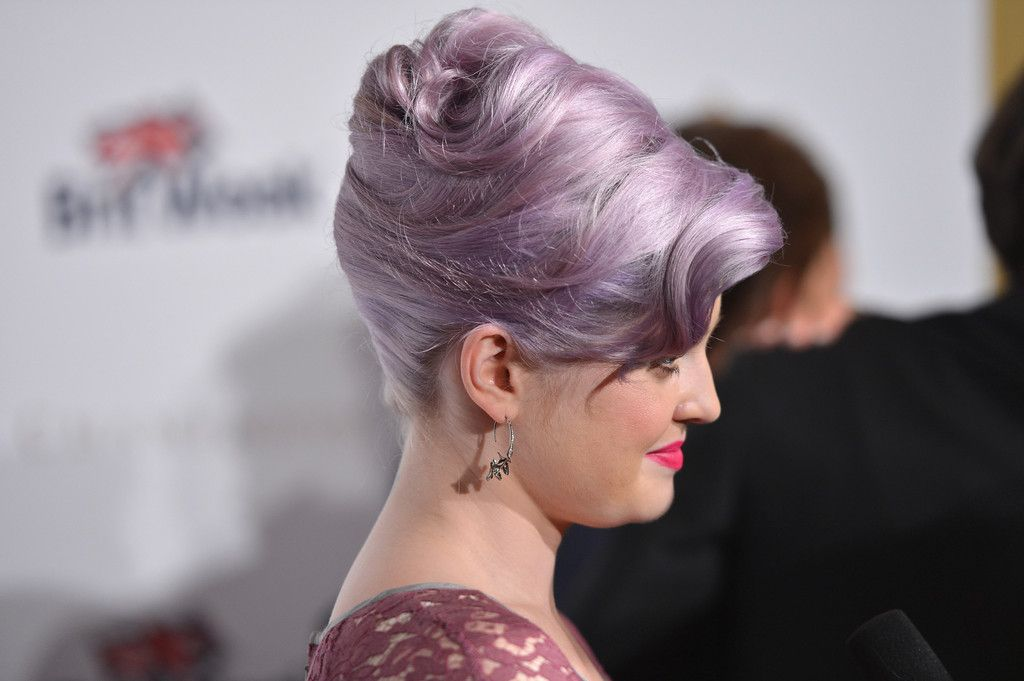 Kelly Osbourne swept her hair up into an elegant French twist for BritWeek 2012.