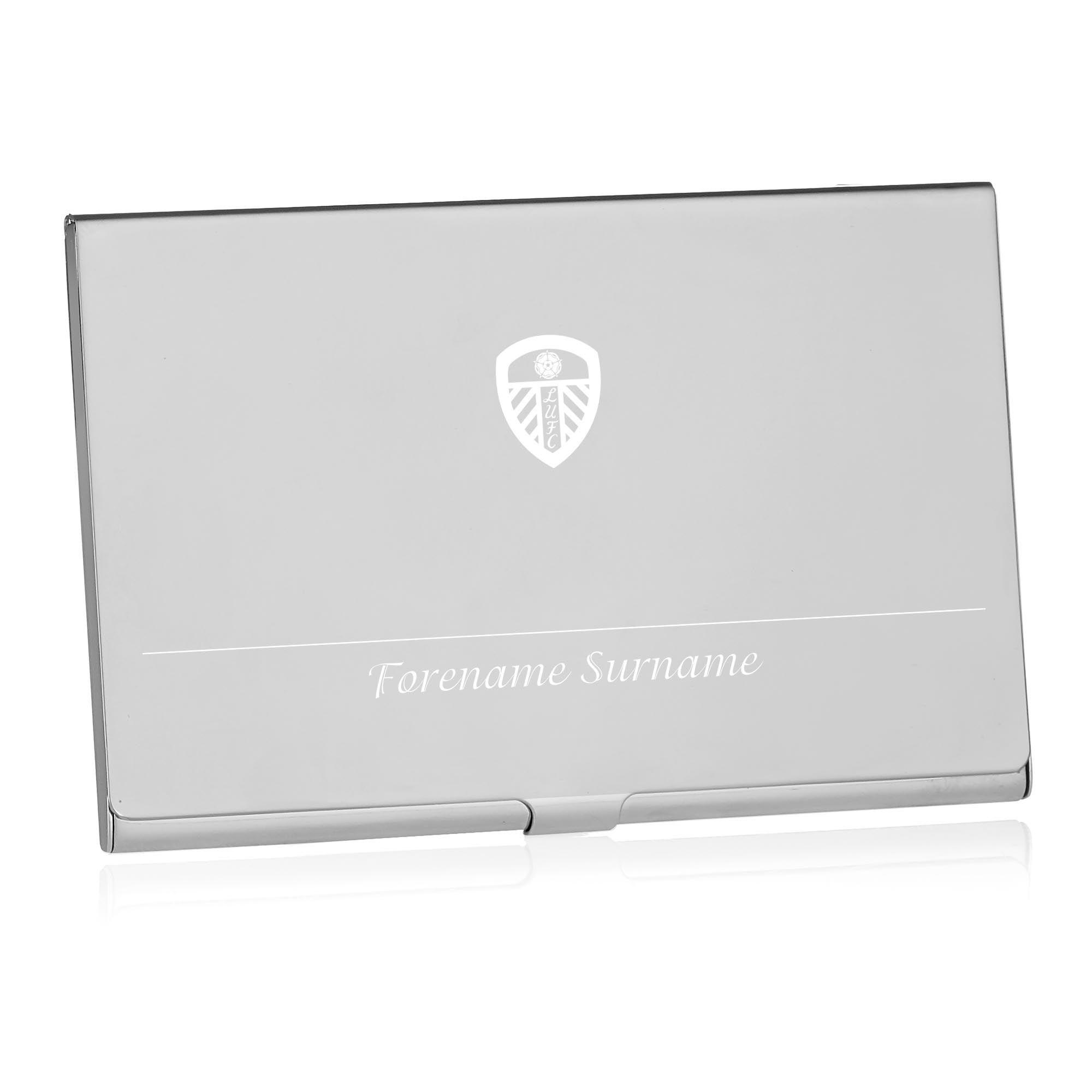 Leeds United FC Executive Business Card Holder | Personalised LUFC ...