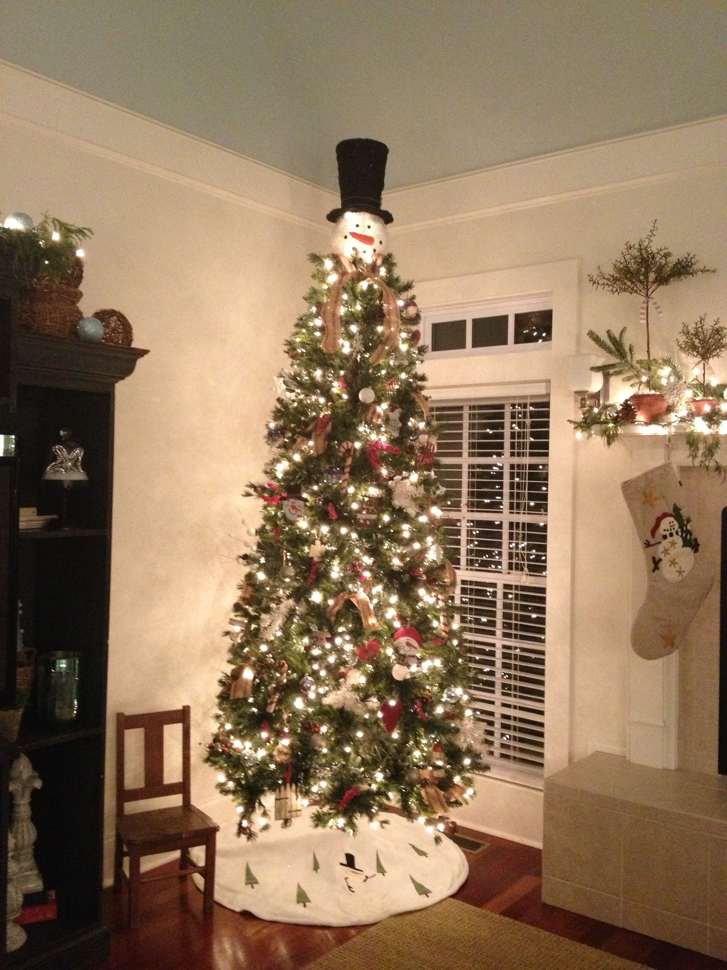 My Tree This Year Snowman Topper From Cracker Barrel