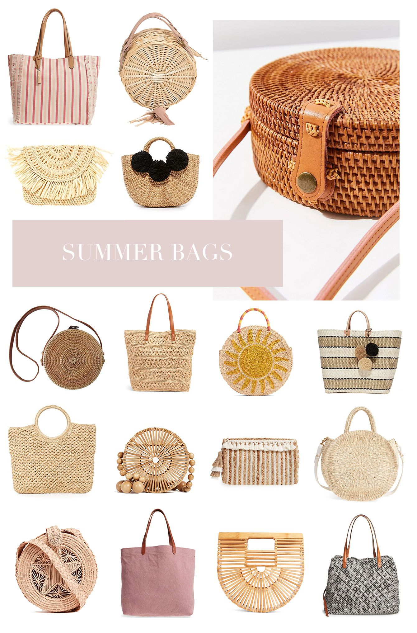 64835b49349 Beach Bag Trends for Summer 2018 | Outfit Ideas from Jamie Kamber ...