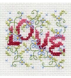 "Bucilla ® Counted Cross Stitch - Beginner Stitchery - Mini - Love Vine Size: 2"" x 2""."