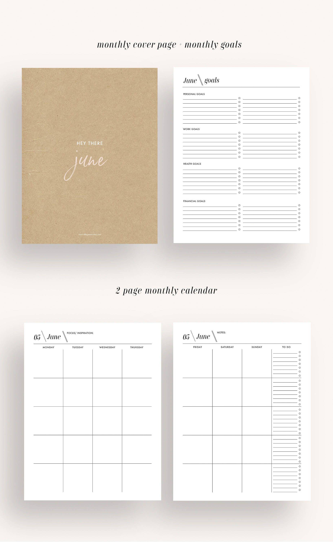 Planner Printable Planner Planner Academic Planner Monthly Planner
