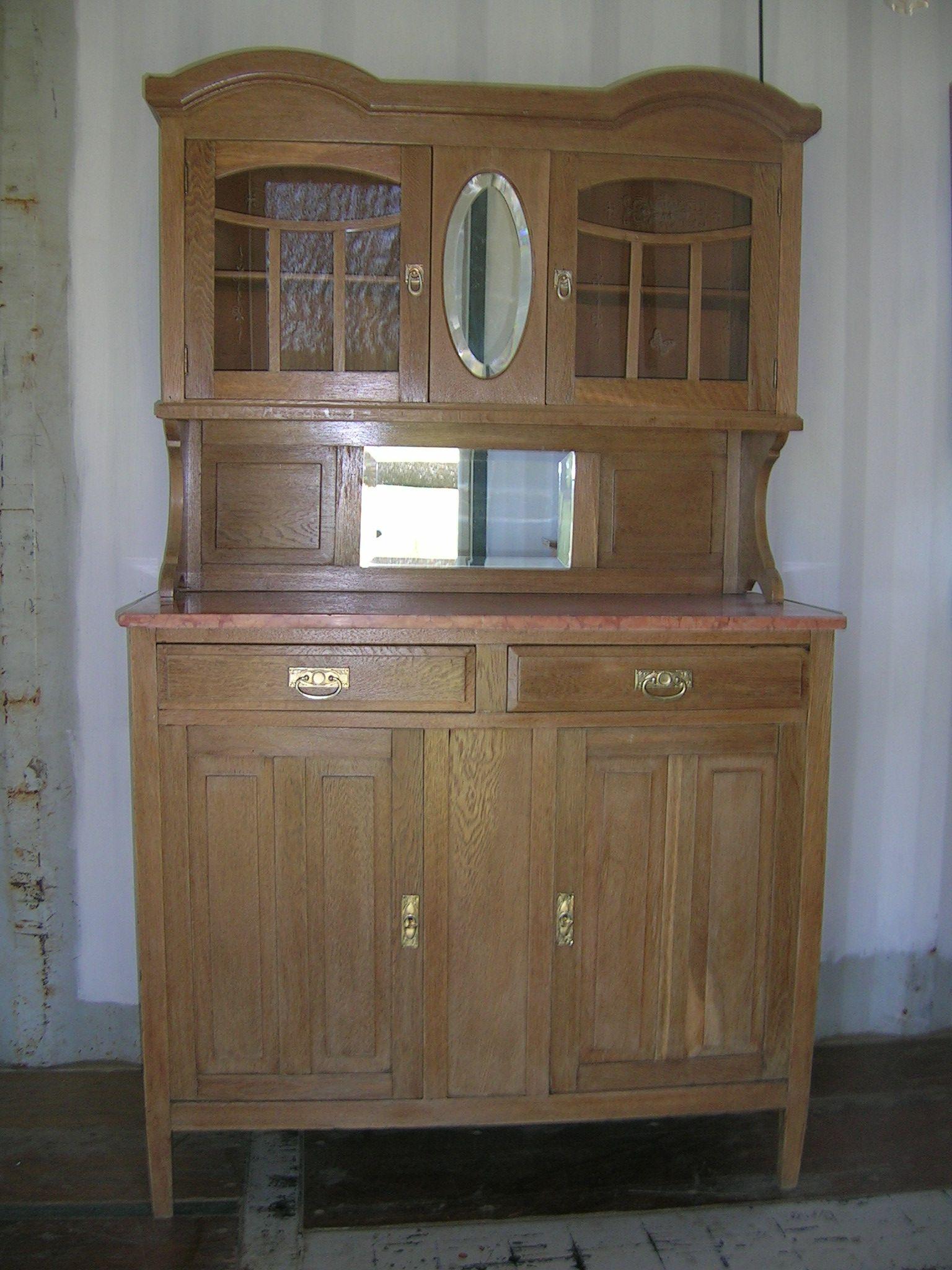 Aparador de roble muebles de campo restaurados pinterest - Muebles restaurados vintage ...