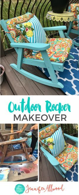 Painting Grandma's Outdoor Rocking Chair - Jennifer Allwood - Painted Patio Furniture - Furniture Painting Tips | Outdoor Rocker