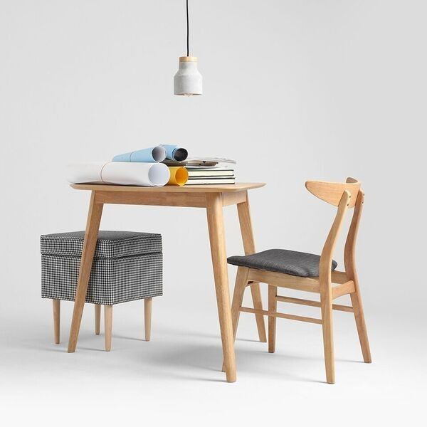 Luxury Modern Oak Dining Chair With Grey Seat & Wooden Backrest Style - Amazing modern grey chair Photo