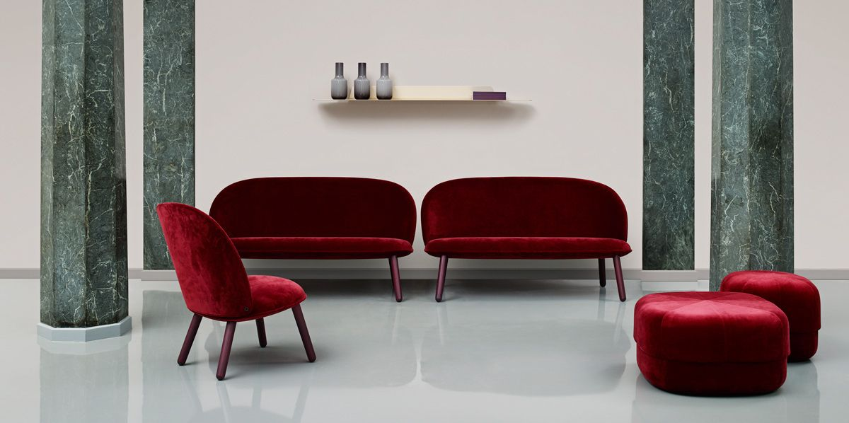 bank #stoel #hocker #Deens #velour #stijvol #interieur #woonkamer ...