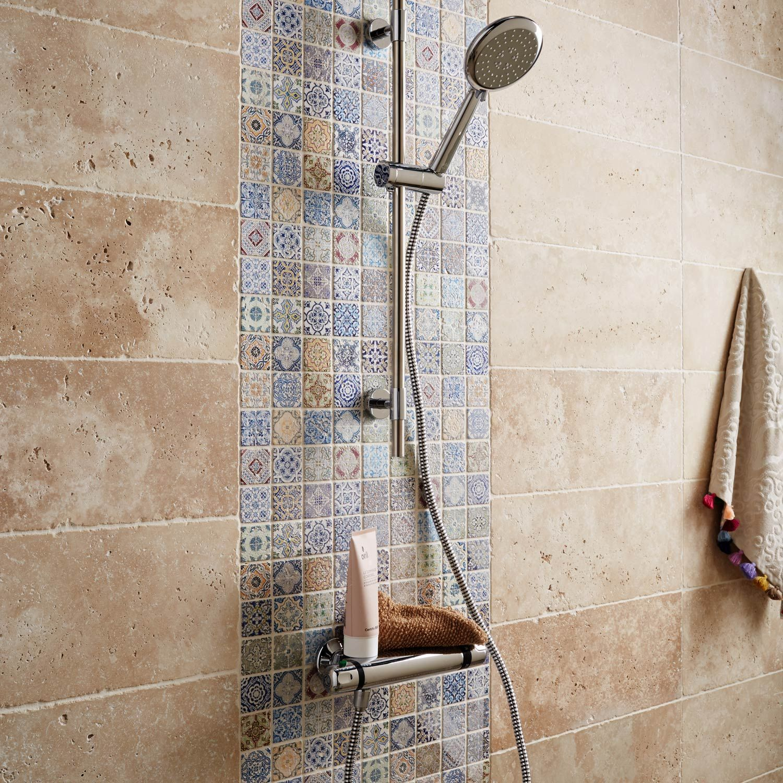 Mosaique Mur Renaissance Decore Multicolore 4 8 X 4 8 Cm Carrelage Salle De Bain Salle De Bains Orientale Et Faience Douche