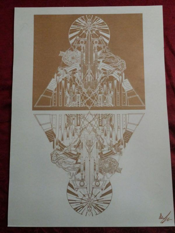 The blue Tower of Binah high quality Riso Print limited to ten pieces - signed and handnumbered gold on white paper . size 30 x 45 cm . Strictly limited and avaiable at my webshop inurath.com . #pyramid #risoprint #mysticart #occult #psychedelicart #alchemy #occultart #surrealism #gnostic #gothic #art #darkart #symbols #symbolic #magick #darkartists #darksurrealism #occultarcana #esoteric #esotericart #risographprint #goldprint