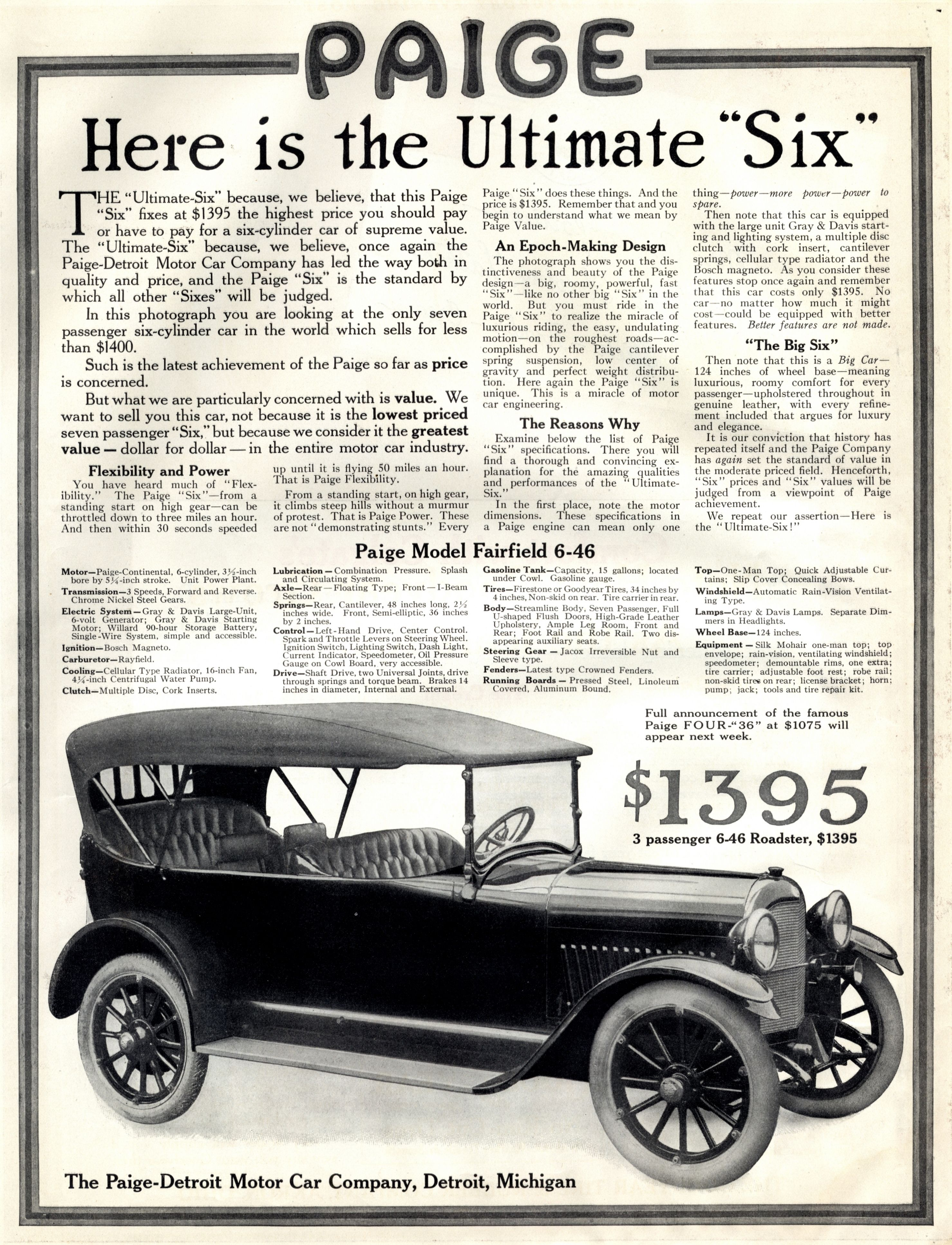 Paige The Saturday Evening Post January 2 1915 Retro Ads Vintage Ads Antique Cars