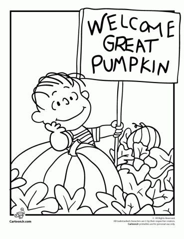It\'s the Great Pumpkin Charlie Brown Coloring Pages | Pinterest ...